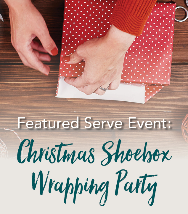 Christmas Shoebox Wrapping Party